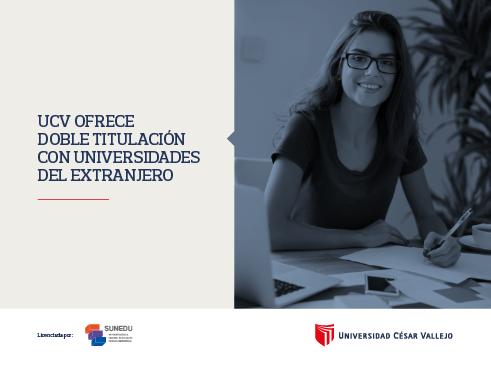 UCV ofrece doble titulación con universidades del extranjero