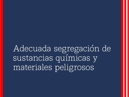 Webinar RSU: Adecuada segregación de sustancias químicas y materiales peligrosos